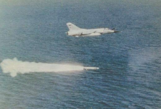 7 - ASCM - Mirage launching Exocet during Tanker War
